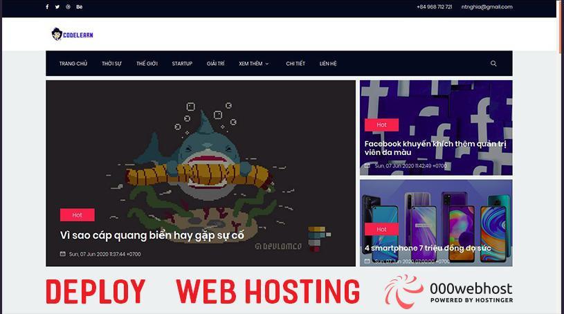 Deploy Web Lên Hosting (Tạo Web Tin Tức Bằng PHP Phần Cuối)