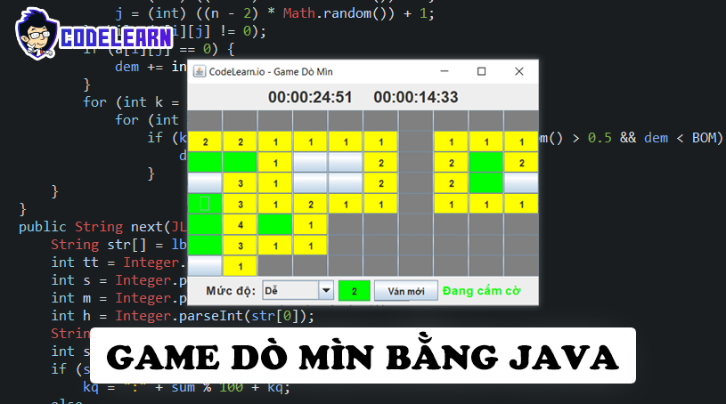Làm Game Dò Mìn Bằng Java (Phần 1)