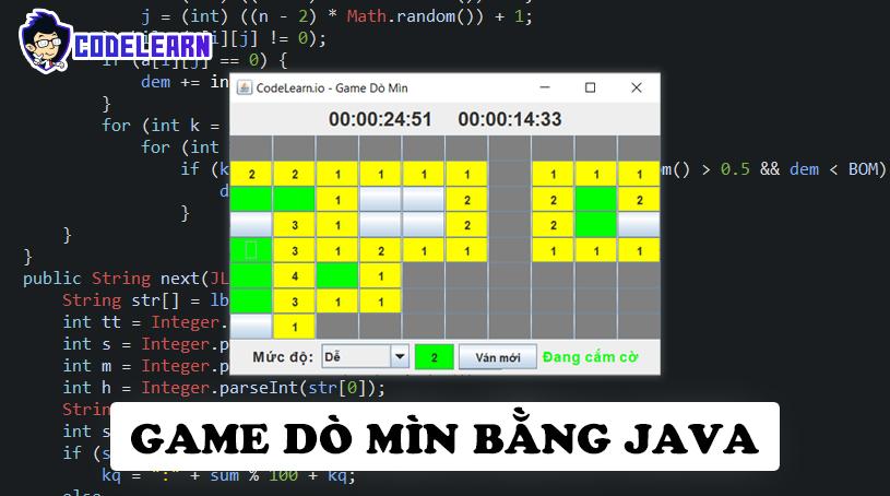 Làm Game Dò Mìn Bằng Java (Phần 2)