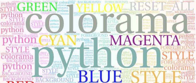 Tô Màu Cho Chữ Trên Terminal Với Colorama Python